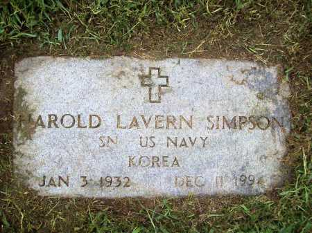 SIMPSON (VETERAN KOR), HAROLD LAVERN - Benton County, Arkansas | HAROLD LAVERN SIMPSON (VETERAN KOR) - Arkansas Gravestone Photos