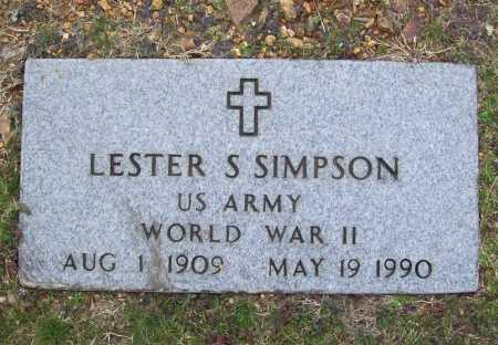 SIMPSON (VETERAN WWII), LESTER S - Benton County, Arkansas | LESTER S SIMPSON (VETERAN WWII) - Arkansas Gravestone Photos