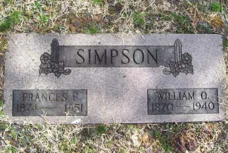 SIMPSON, FRANCES E. - Benton County, Arkansas | FRANCES E. SIMPSON - Arkansas Gravestone Photos