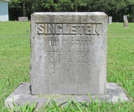 SINGLETON, DAVID FRANK - Benton County, Arkansas | DAVID FRANK SINGLETON - Arkansas Gravestone Photos