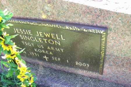 SINGLETON (VETERAN KOR), JESSIE JEWELL - Benton County, Arkansas | JESSIE JEWELL SINGLETON (VETERAN KOR) - Arkansas Gravestone Photos
