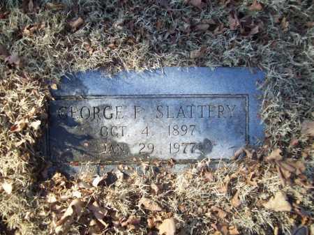 SLATTERY, GEORGE F. - Benton County, Arkansas | GEORGE F. SLATTERY - Arkansas Gravestone Photos