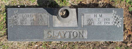 SLAYTON, H M - Benton County, Arkansas | H M SLAYTON - Arkansas Gravestone Photos
