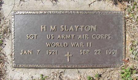 SLAYTON (VETERAN WWII), H M - Benton County, Arkansas   H M SLAYTON (VETERAN WWII) - Arkansas Gravestone Photos
