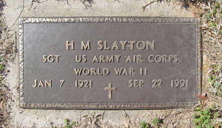 SLAYTON (VETERAN WWII), H M - Benton County, Arkansas | H M SLAYTON (VETERAN WWII) - Arkansas Gravestone Photos