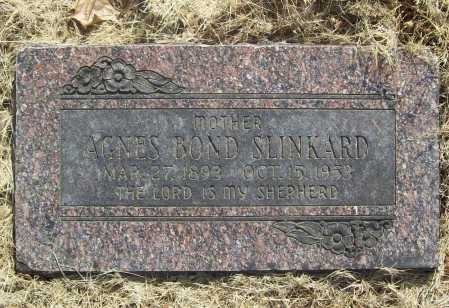 BOND SLINKARD, AGNES - Benton County, Arkansas | AGNES BOND SLINKARD - Arkansas Gravestone Photos