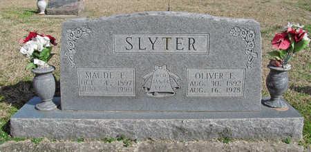 SLYTER, OLIVER FRANCIS - Benton County, Arkansas | OLIVER FRANCIS SLYTER - Arkansas Gravestone Photos