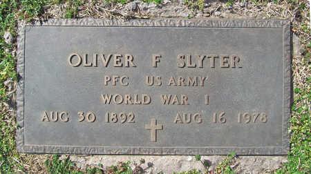 SLYTER (VETERAN WWI), OLIVER FRANCIS - Benton County, Arkansas | OLIVER FRANCIS SLYTER (VETERAN WWI) - Arkansas Gravestone Photos
