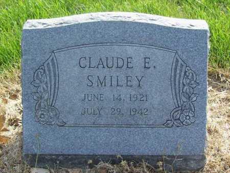 SMILEY, CLAUDE E. - Benton County, Arkansas   CLAUDE E. SMILEY - Arkansas Gravestone Photos