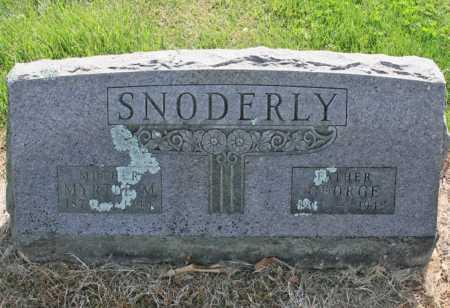 BEAN SNODERLY, MYRTLE M. - Benton County, Arkansas | MYRTLE M. BEAN SNODERLY - Arkansas Gravestone Photos
