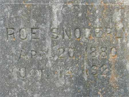 "SNODERLY, SILAS MONROE ""ROE"" - Benton County, Arkansas 