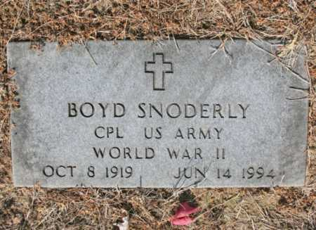 SNODERLY (VETERAN WWII), BOYD - Benton County, Arkansas | BOYD SNODERLY (VETERAN WWII) - Arkansas Gravestone Photos