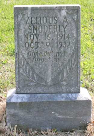 SNODERLY, ZELIOUS A. - Benton County, Arkansas | ZELIOUS A. SNODERLY - Arkansas Gravestone Photos