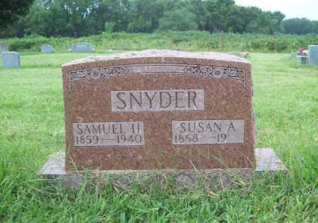 SNYDER, SAMUEL H. - Benton County, Arkansas | SAMUEL H. SNYDER - Arkansas Gravestone Photos