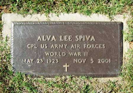 SPIVA (VETERAN WWII), ALVA LEE - Benton County, Arkansas | ALVA LEE SPIVA (VETERAN WWII) - Arkansas Gravestone Photos