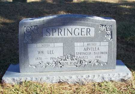 SPRINGER, ARVILLA - Benton County, Arkansas | ARVILLA SPRINGER - Arkansas Gravestone Photos