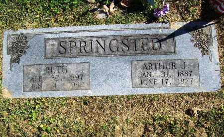 SPRINGSTED, ARTHUR J. - Benton County, Arkansas | ARTHUR J. SPRINGSTED - Arkansas Gravestone Photos