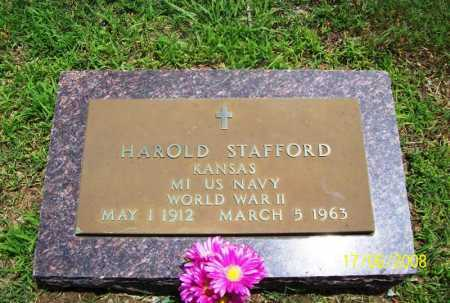 STAFFORD (VETERAN WWII), HAROLD - Benton County, Arkansas | HAROLD STAFFORD (VETERAN WWII) - Arkansas Gravestone Photos