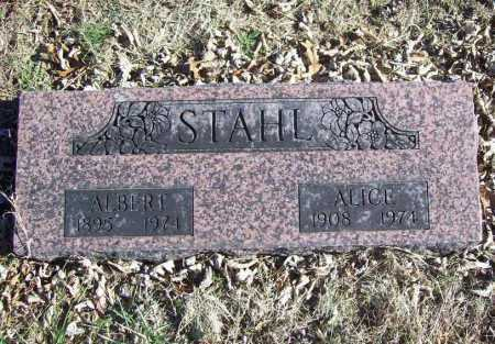 STAHL, ALICE LOUISE - Benton County, Arkansas | ALICE LOUISE STAHL - Arkansas Gravestone Photos