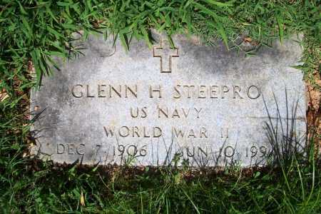 STEEPRO (VETERAN WWII), GLENN H. - Benton County, Arkansas | GLENN H. STEEPRO (VETERAN WWII) - Arkansas Gravestone Photos