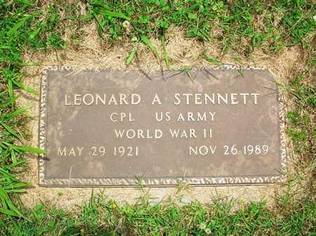 STENNETT (VETERAN WWII), LEONARD A. - Benton County, Arkansas | LEONARD A. STENNETT (VETERAN WWII) - Arkansas Gravestone Photos