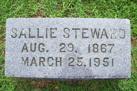 STEWARD, SALLIE - Benton County, Arkansas | SALLIE STEWARD - Arkansas Gravestone Photos