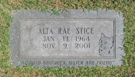 STICE, ALTA RAE - Benton County, Arkansas | ALTA RAE STICE - Arkansas Gravestone Photos