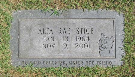 STICE, ALTA RAE - Benton County, Arkansas   ALTA RAE STICE - Arkansas Gravestone Photos