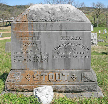 STOUT, EMILY - Benton County, Arkansas | EMILY STOUT - Arkansas Gravestone Photos