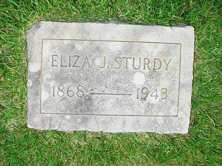 STURDY, ELIZA J. - Benton County, Arkansas | ELIZA J. STURDY - Arkansas Gravestone Photos
