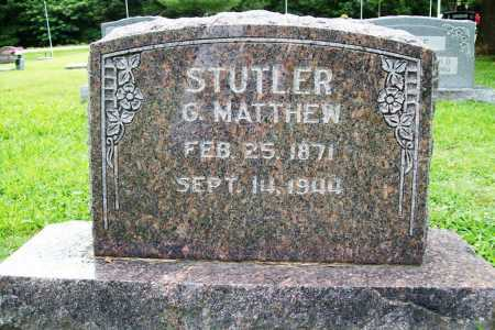 STUTLER, G. MATTHEW - Benton County, Arkansas | G. MATTHEW STUTLER - Arkansas Gravestone Photos