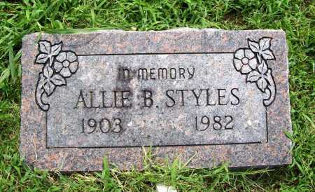 STYLES, ALLIE B. - Benton County, Arkansas | ALLIE B. STYLES - Arkansas Gravestone Photos