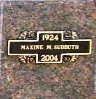 GABRIEL SUDDUTH, MAXINE MARJORIE - Benton County, Arkansas | MAXINE MARJORIE GABRIEL SUDDUTH - Arkansas Gravestone Photos