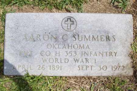 SUMMERS (VETERAN WWI), AARON C - Benton County, Arkansas | AARON C SUMMERS (VETERAN WWI) - Arkansas Gravestone Photos