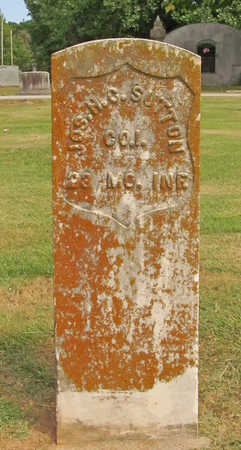 SUTTON (VETERAN UNION), JOSEPH H C - Benton County, Arkansas | JOSEPH H C SUTTON (VETERAN UNION) - Arkansas Gravestone Photos