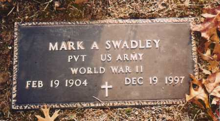 SWADLEY (VETERAN WWII), MARK A. - Benton County, Arkansas | MARK A. SWADLEY (VETERAN WWII) - Arkansas Gravestone Photos