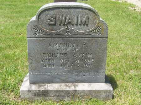 SWAIM, AMANDA P. - Benton County, Arkansas | AMANDA P. SWAIM - Arkansas Gravestone Photos