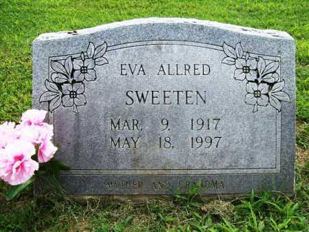 ALLRED SWEETEN, EVA - Benton County, Arkansas | EVA ALLRED SWEETEN - Arkansas Gravestone Photos