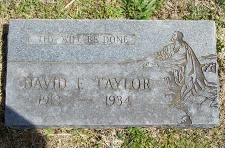 TAYLOR, DAVID F. - Benton County, Arkansas | DAVID F. TAYLOR - Arkansas Gravestone Photos