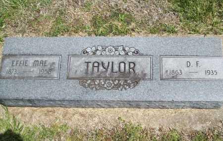 TAYLOR, D. F. - Benton County, Arkansas | D. F. TAYLOR - Arkansas Gravestone Photos