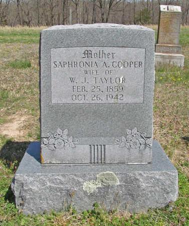 COOPER TAYLOR, SAPHRONIA A. - Benton County, Arkansas | SAPHRONIA A. COOPER TAYLOR - Arkansas Gravestone Photos