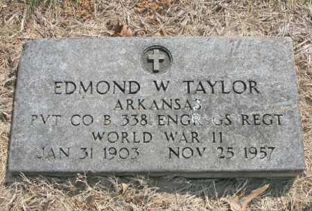 TAYLOR (VETERAN WWII), EDMOND W - Benton County, Arkansas | EDMOND W TAYLOR (VETERAN WWII) - Arkansas Gravestone Photos