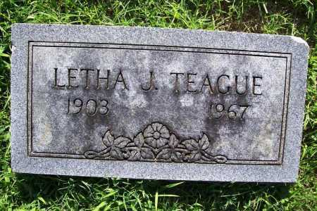 TEAGUE, LETHA J. - Benton County, Arkansas | LETHA J. TEAGUE - Arkansas Gravestone Photos