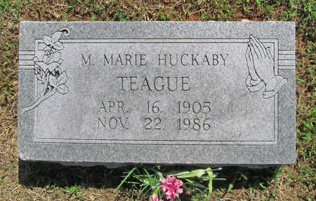 MANN TEAGUE, MARY MARIE  FRANCE HUCKABY - Benton County, Arkansas | MARY MARIE  FRANCE HUCKABY MANN TEAGUE - Arkansas Gravestone Photos