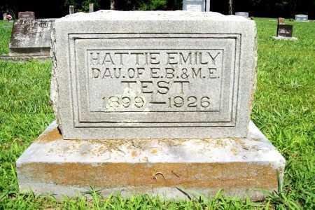 TEST, HATTIE EMILY - Benton County, Arkansas | HATTIE EMILY TEST - Arkansas Gravestone Photos
