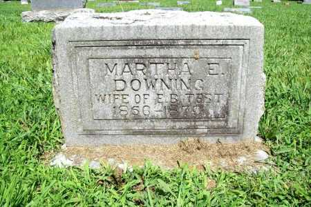 DOWNING TEST, MARTHA E. - Benton County, Arkansas | MARTHA E. DOWNING TEST - Arkansas Gravestone Photos