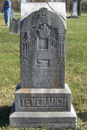 TEVEBAUGH, MARTHA JANE - Benton County, Arkansas | MARTHA JANE TEVEBAUGH - Arkansas Gravestone Photos