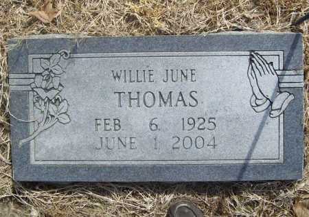 FORTNER THOMAS, WILLIE JUNE - Benton County, Arkansas | WILLIE JUNE FORTNER THOMAS - Arkansas Gravestone Photos