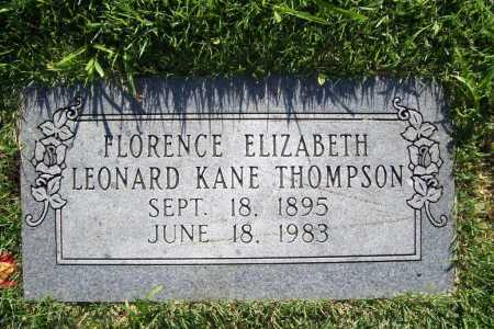 THOMPSON, FLORENCE ELIZABETH KANE - Benton County, Arkansas | FLORENCE ELIZABETH KANE THOMPSON - Arkansas Gravestone Photos