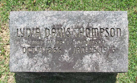 DAVIS THOMPSON, LYDIA - Benton County, Arkansas | LYDIA DAVIS THOMPSON - Arkansas Gravestone Photos